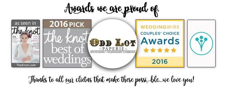 Wedding Industry Awards for Odd Lot Paperie