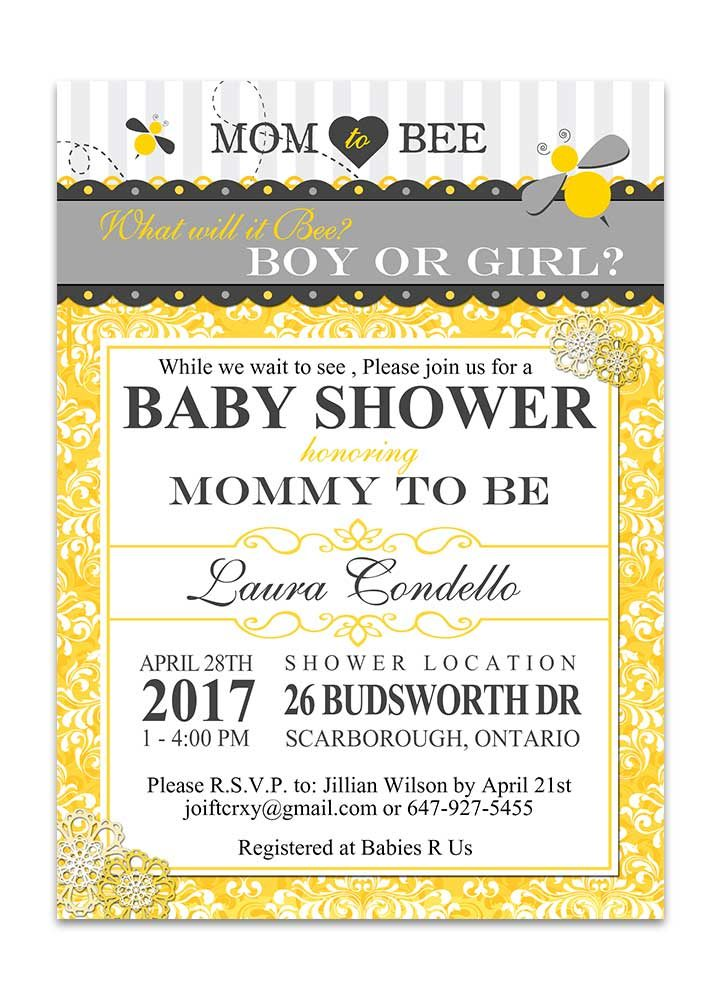 mom to bee baby shower invitation odd lot paperie