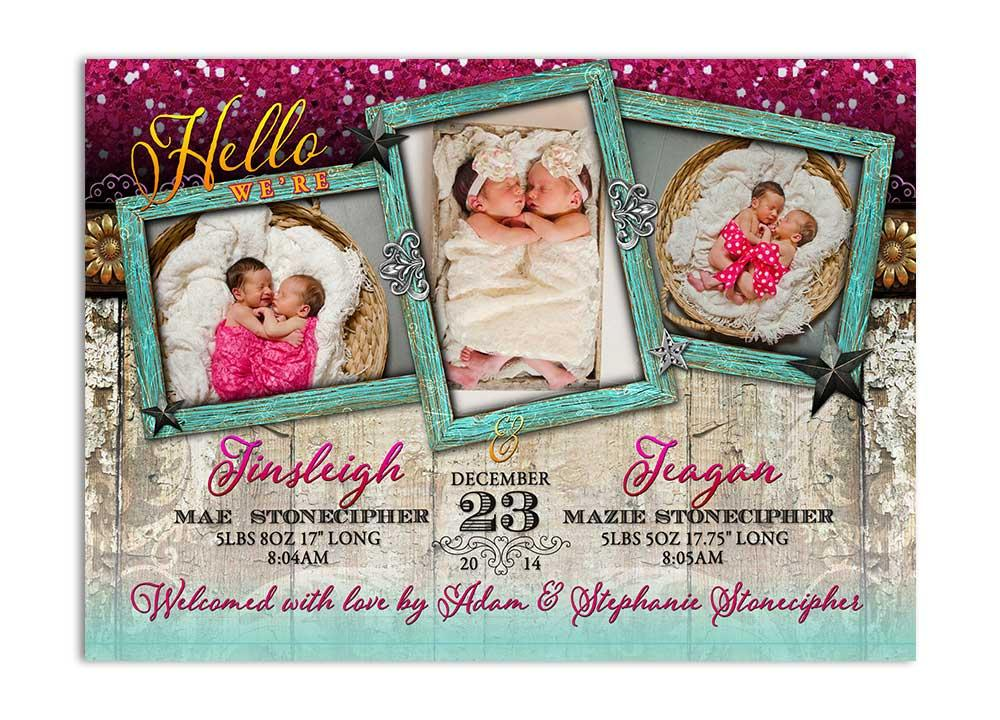 Rustic glam baby shower invitation