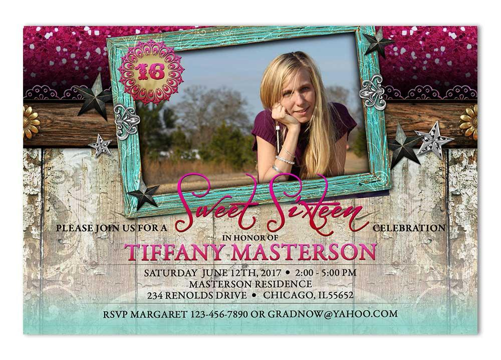 Sweet 16 Glam Birthday Invite
