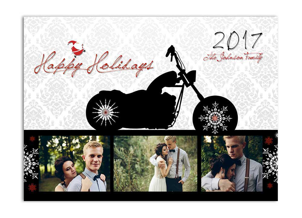 Biker Holiday Card