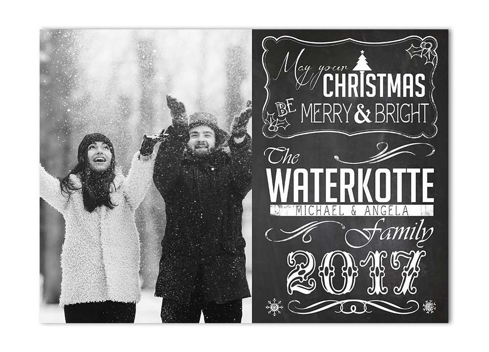 Chalkboard Christmas Card with Photo