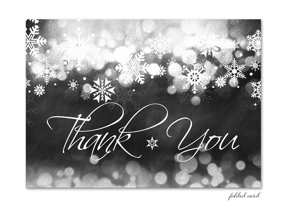 Winter Chalkboard Folded Thank You Card