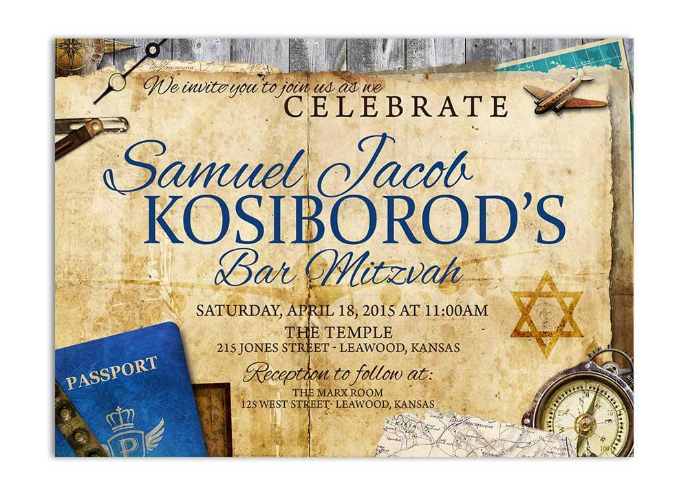 Bar Mitzvah Travel Invitation