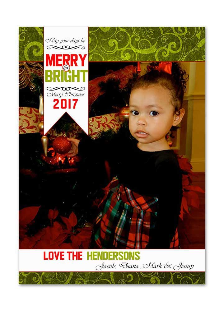 Merry & Bright Photo Christmas Card