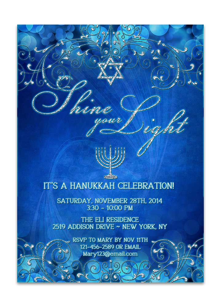 Hanukkah Celebration Invitation
