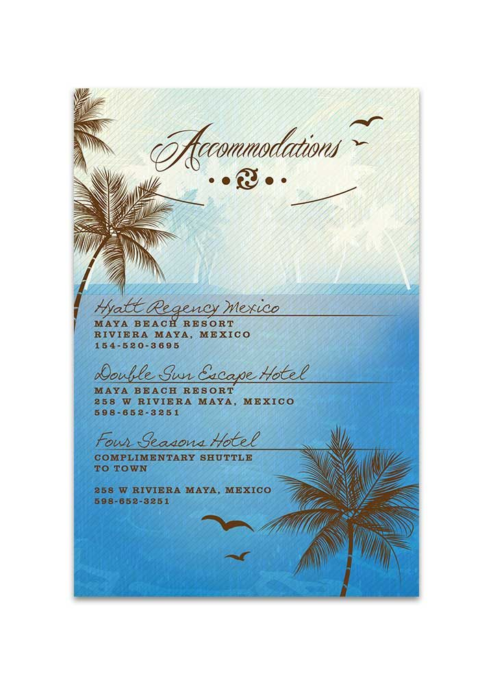 Beach Wedding Insert - Blue