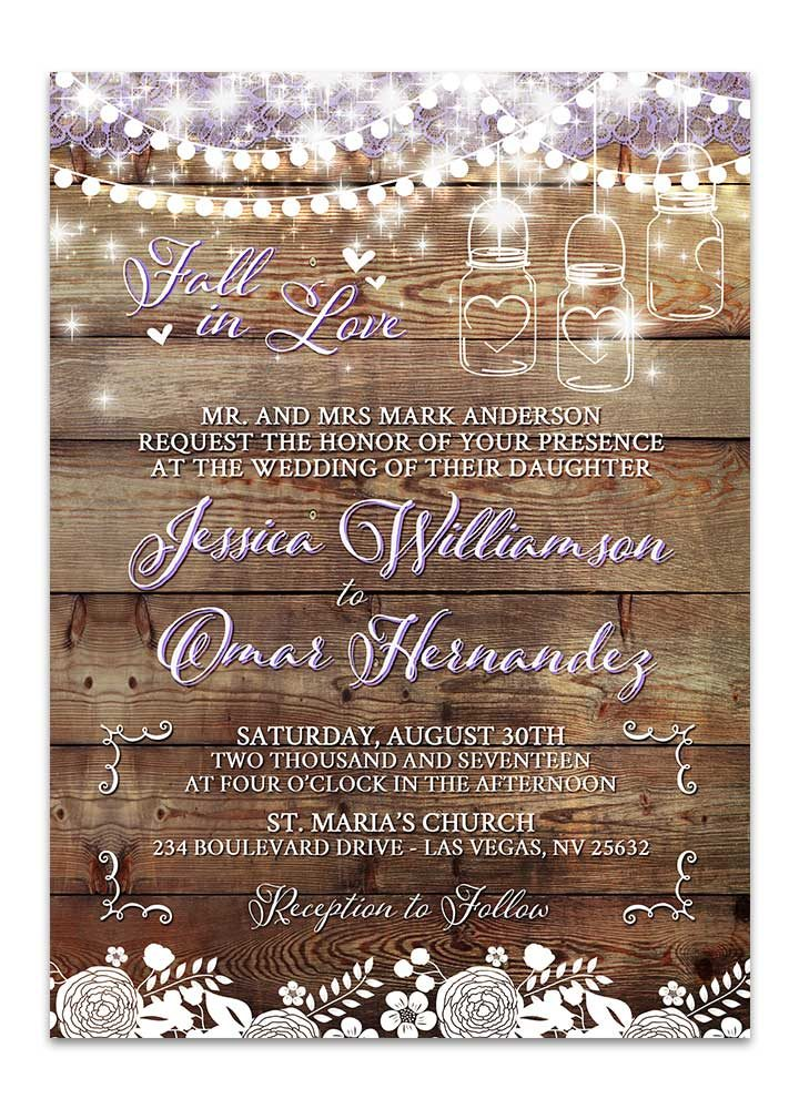 Rustic Mason Jar Bridal Shower Invitation - Odd Lot Paperie