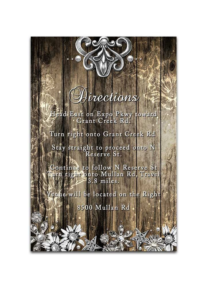 Rustic Wood and Metal Wedding Insert