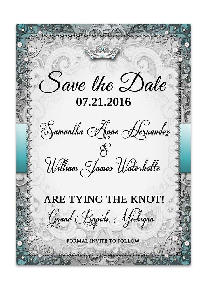 Vintage Fairytale Save the Date Card