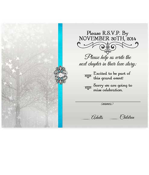 Elegant Pearl Winter Wonderland Christmas Party RSVP Card
