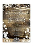 Rustic Vineyard with Lights Bridal Shower Invitation