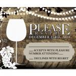 Rustic Vineyard with Lights RSVP Card