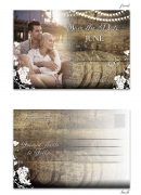 Rustic Vineyard with Lights Save the Date Postcard