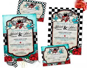 Rockabilly Wedding Invitations