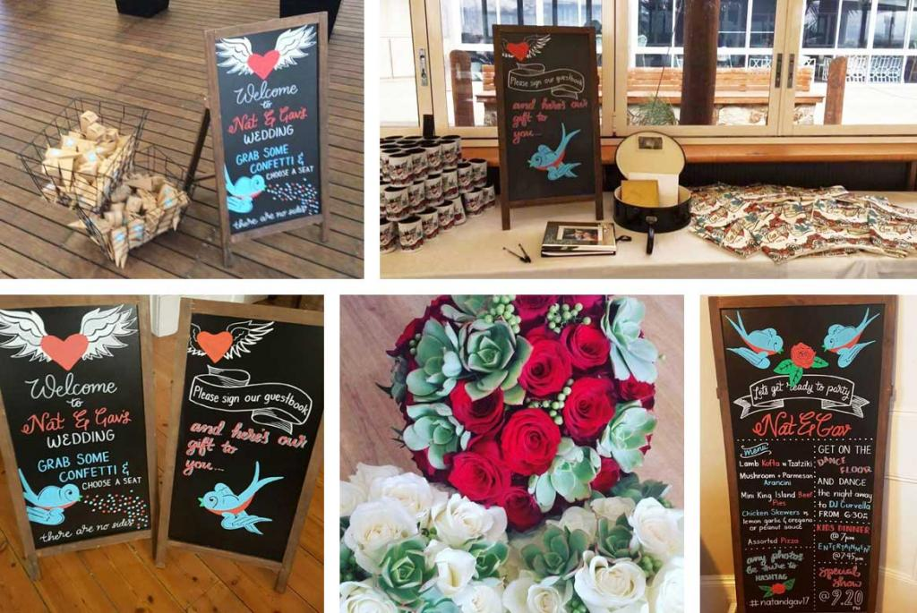 Rockabilly Chalkboard Signs