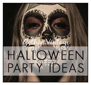 Vintage Gothic Halloween Party Ideas