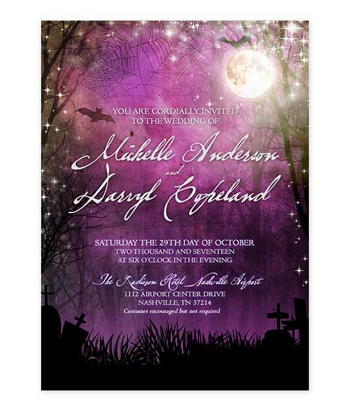 full moon wedding invitation archives