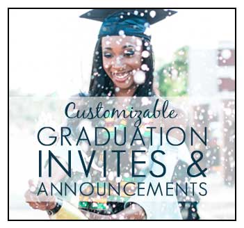 Customizable Graduation Invitations and Announcements