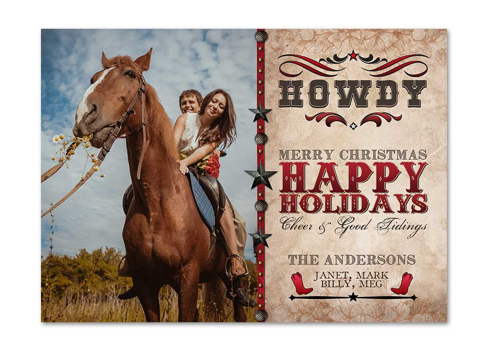 Country Christmas Gifts Cowboy Card