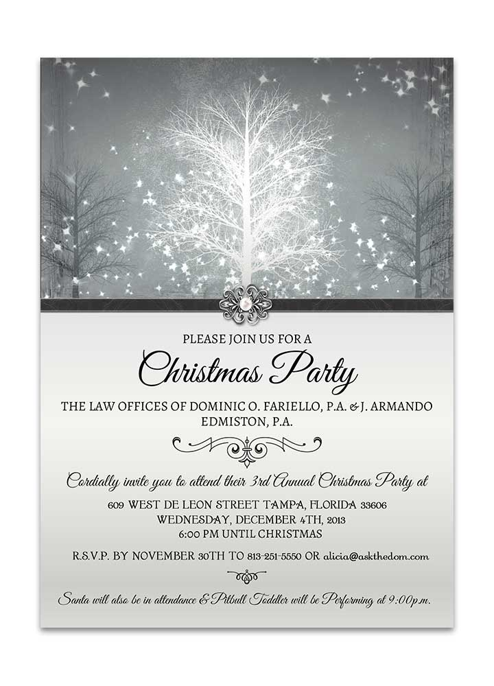 Winter Wonderland Christmas Party Invite