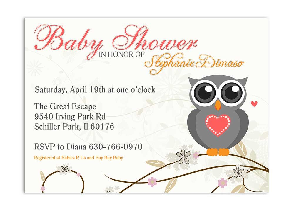 Owls Baby Shower Invitation - Gender Neutral - Odd Lot Paperie