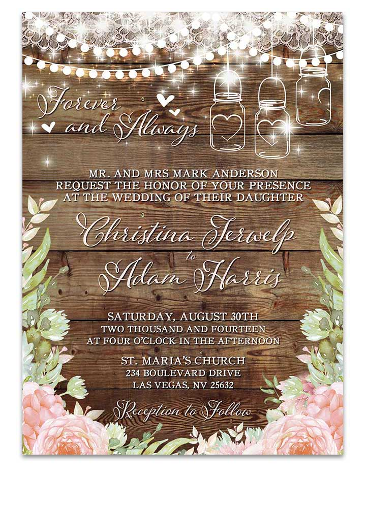 Modern Floral Pastel BohoWedding Invitation