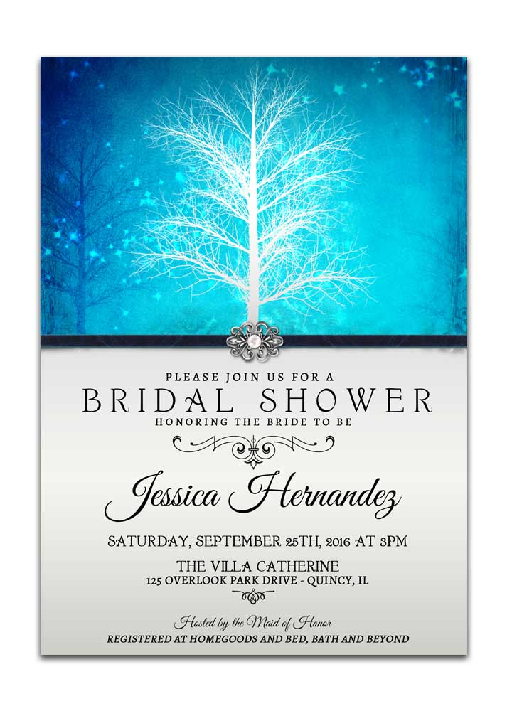 winter wonderland bridal shower