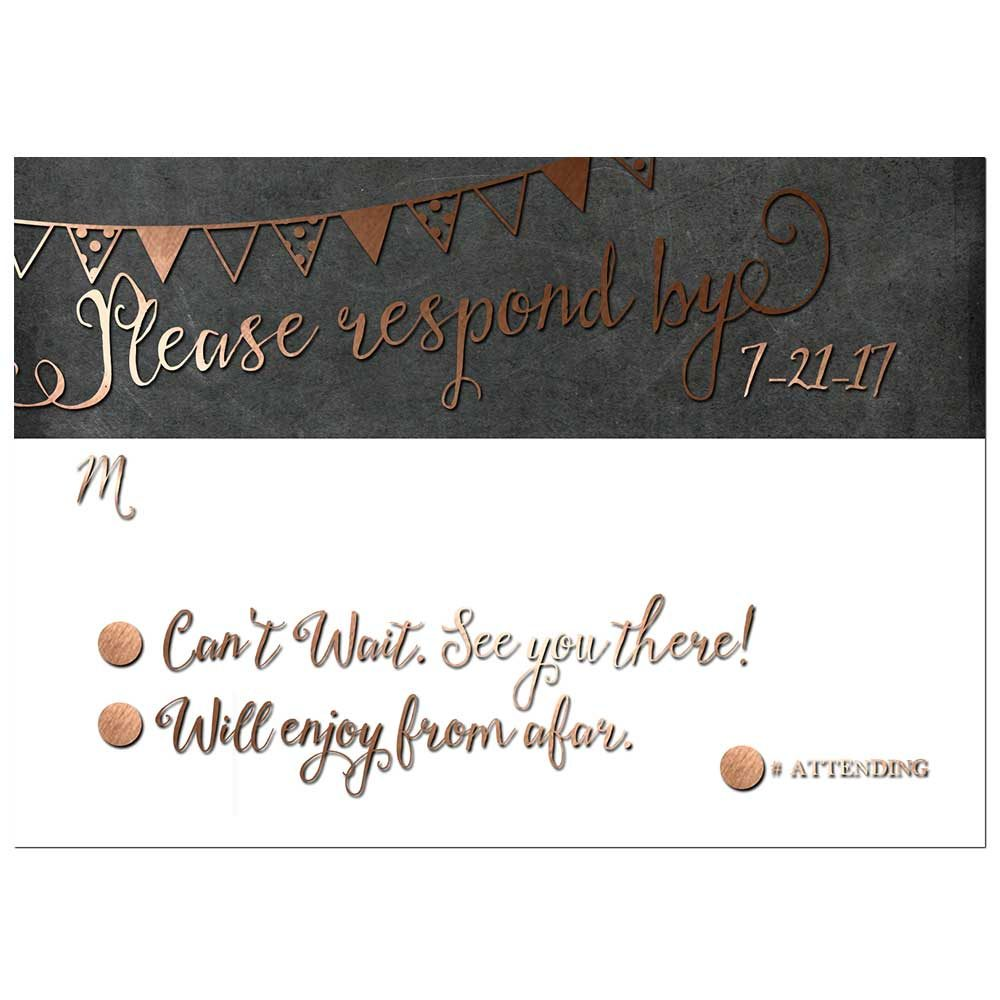 online save the date cards for weddings industrial bronze rsvp