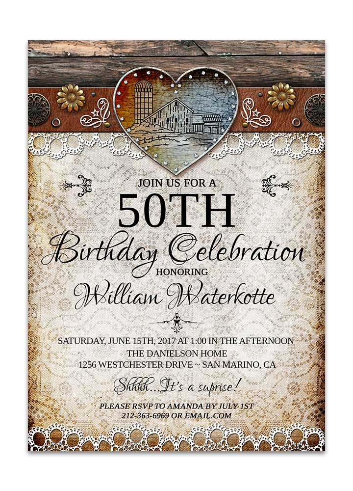 Birthday invitations archives page 2 of 3 odd lot paperie rustic barn lace birthday card filmwisefo