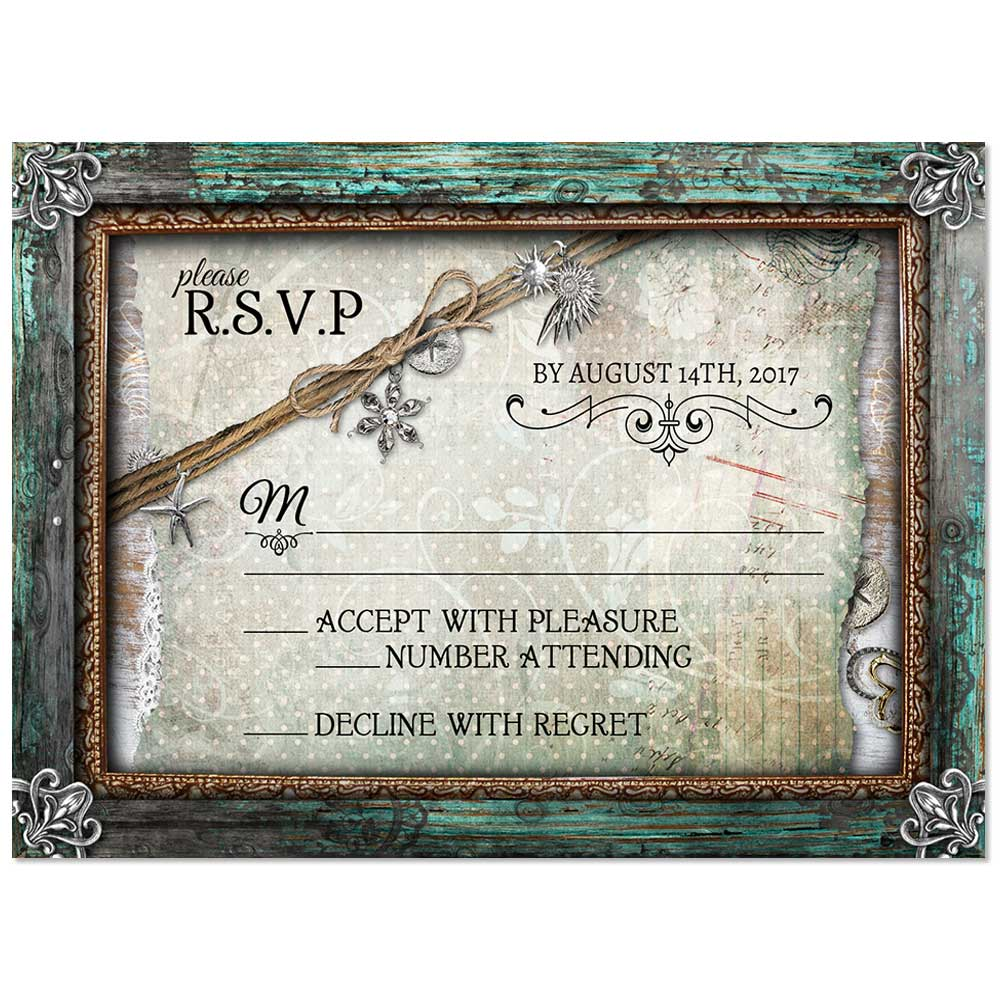 Rustic Beach Wedding Invitations for your destination or beach wedding