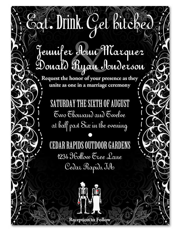 Gothic Romance Fancy Wedding Invitations