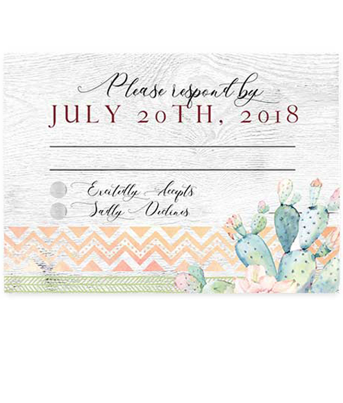 Arizona Watercolor Cactus Flat RSVP