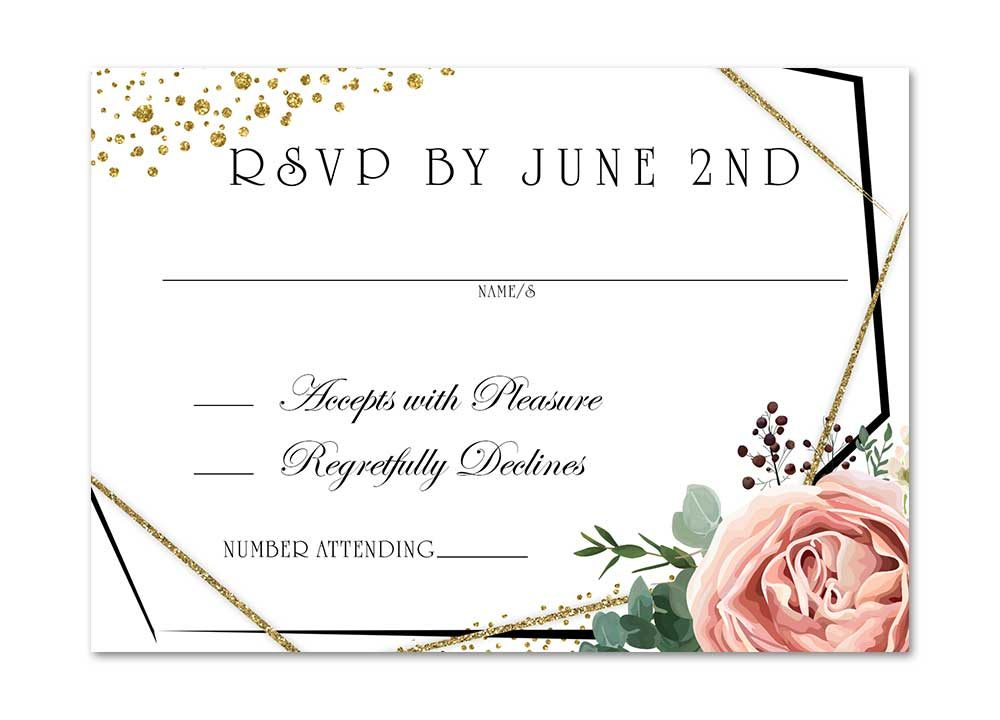 Modern Floral Rose Blush Pink Rose Stationery