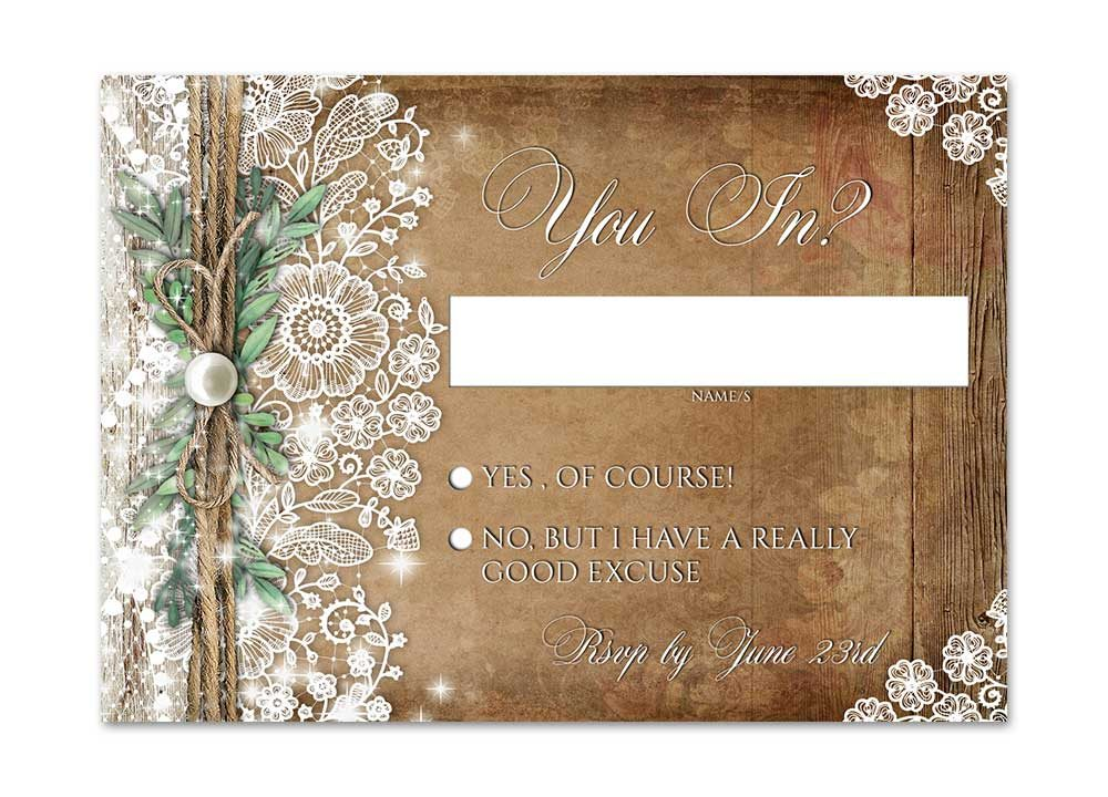 Rustic Lace Greenery Stationery
