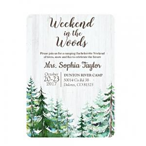 Weekend in the Woods Invitation