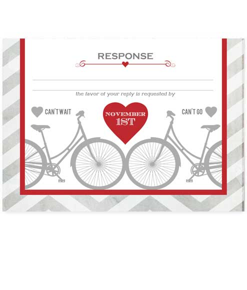 Whimsical Bicycle Metro Wedding RSVP
