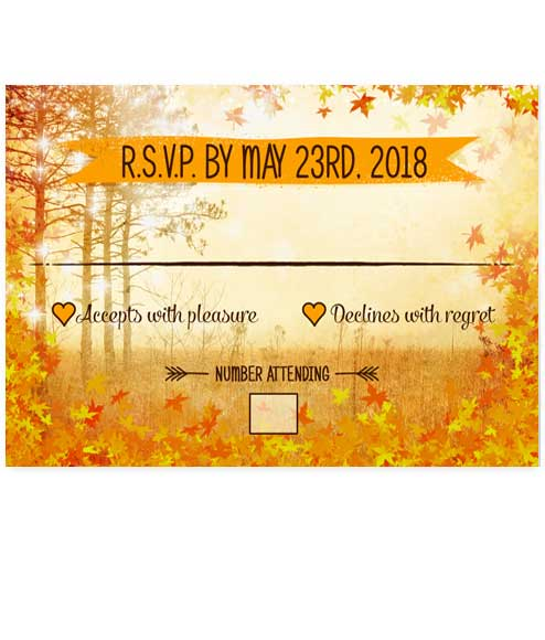Falling Leaves Scenic Wedding RSVP