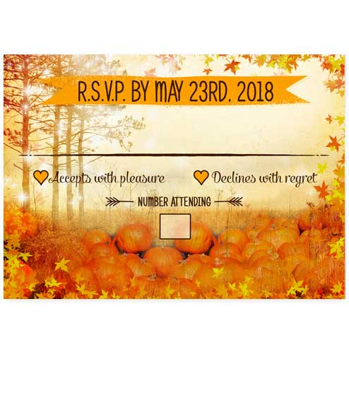 Autumn Pumpkin Wonderland Wedding RSVP