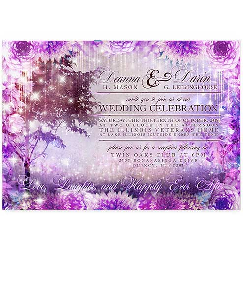 Enchanted Forest Fairytale Wedding Invitations