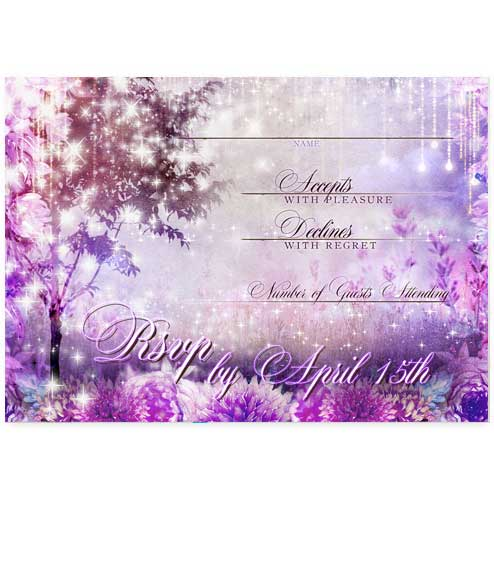 Enchanted Forest Fairytale Wedding RSVP