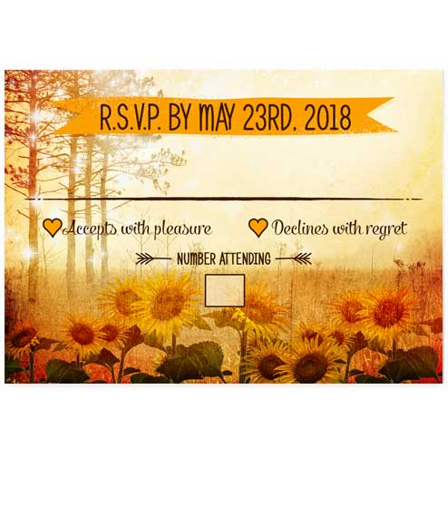 Enchanted Sunflower Field Wedding RSVP