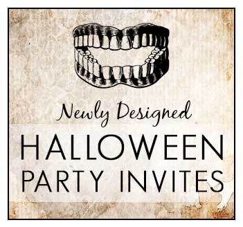 New Halloween Party Invites have come your way!