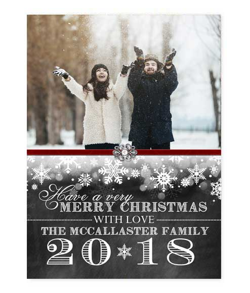 Digital Winter Wonderland Chalkboard Photo Card