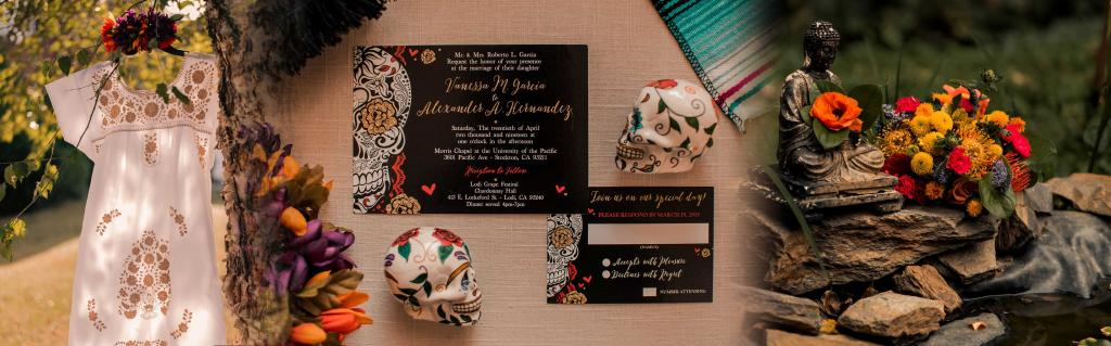 day of the dead wedding invitaionst