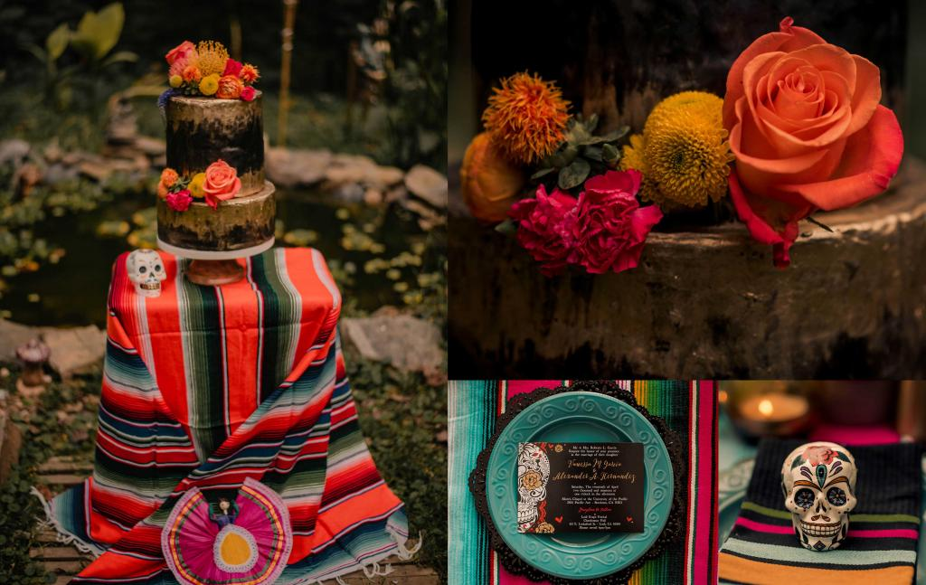 sugar skull wedding inspiration