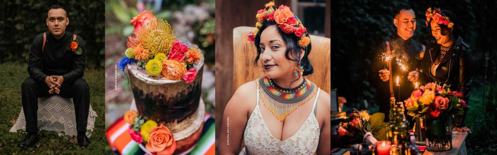 day of the dead styled wedding