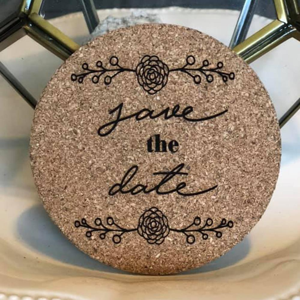 decorative cork coasters