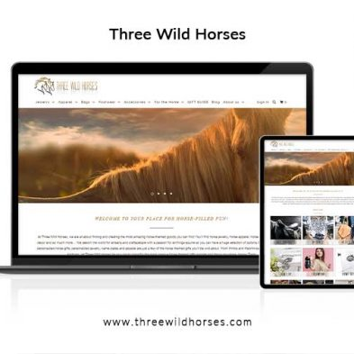 Three Wild Horses Website Design