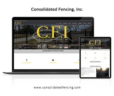 Consolidated Fencing Website Design